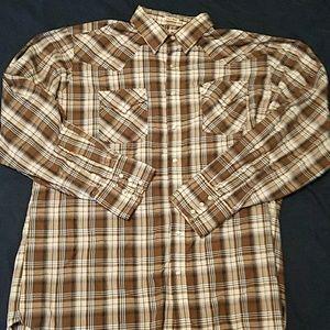 Ely Cattleman snap button Western shirt XLT